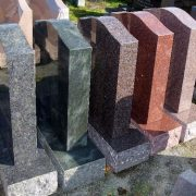 Granite headstone colours, red, green, blue, black, grey, brown