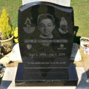 Laser engraved headstones UK