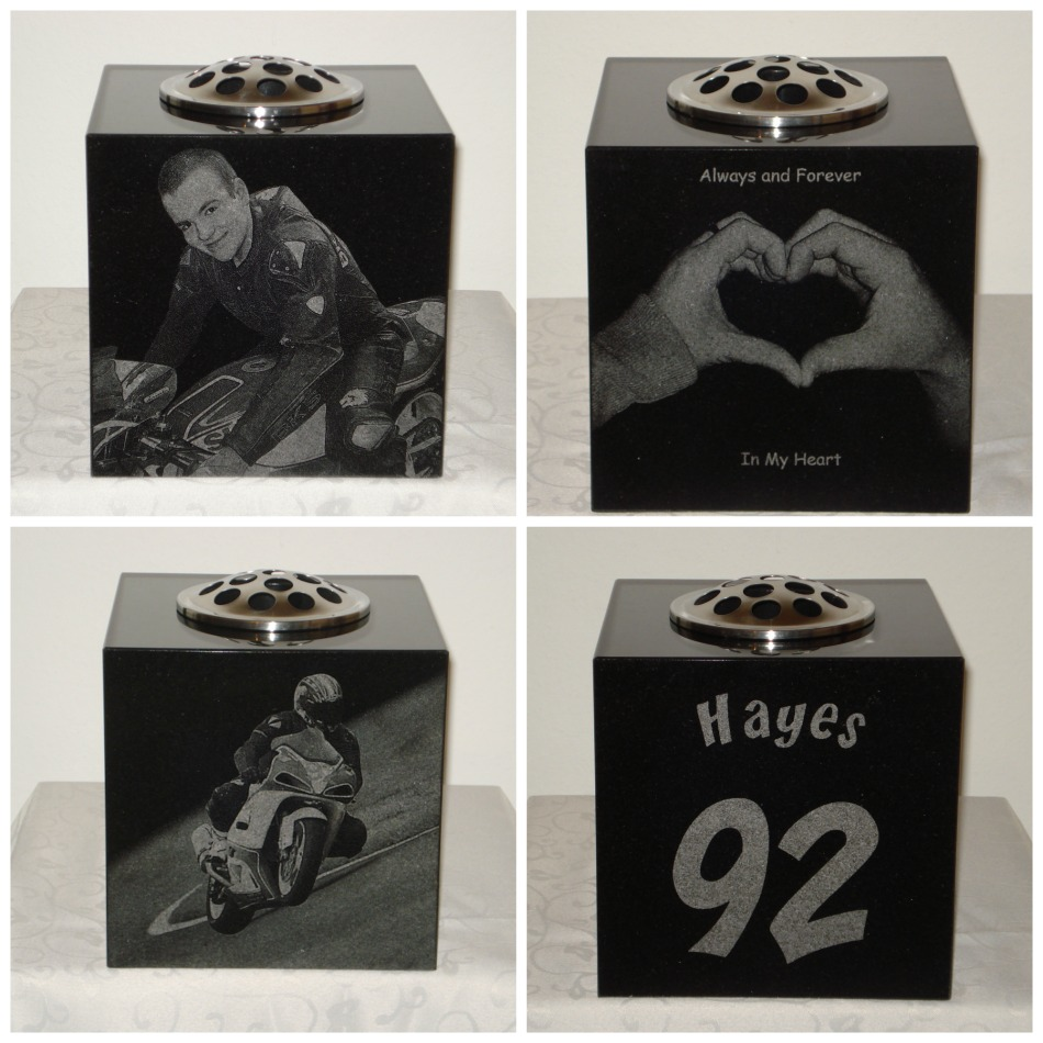 Laser Etched Motorbike Collage children teens xbox 3d cartoons disney frozen sony playstation headstone memorial skiing photos football
