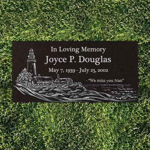 Scenic Laser Etched Flat Marker The Perfect Memorial Ltd