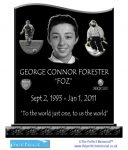 Design proof for laser etched headstone UK - The Perfect Memorial