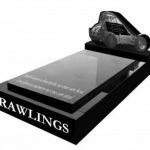 Full kerb granite memorials