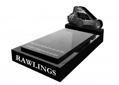 Full kerb granite memorial