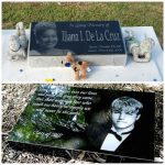 Headstone marker laser etched photos. Teens, kids, children and young people