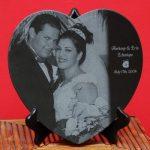 Heart portrait granite memorial UK