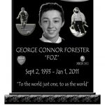Headstones with photos, football jersey, playstation xbox, laser etched granite headstone