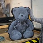 Teddy Bear granite memorial headstone