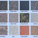 Granite headstone colour options UK